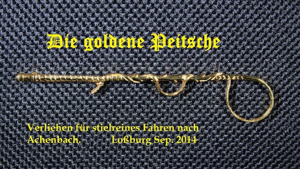 goldene Peitsche